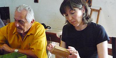 Catherine Dixon em visita ao agreste pernambucano
